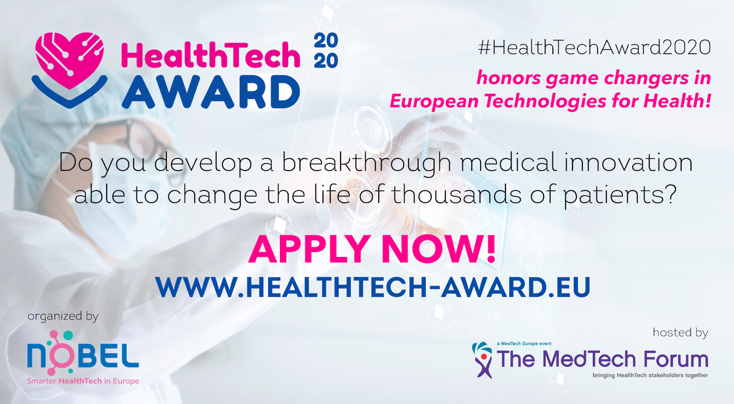 Apply for the HealthTech Award 2020 !